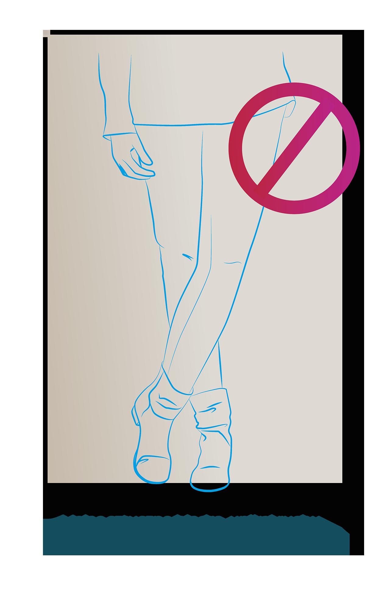 po endoprotezie biodra nie wolno krzyzowac nog