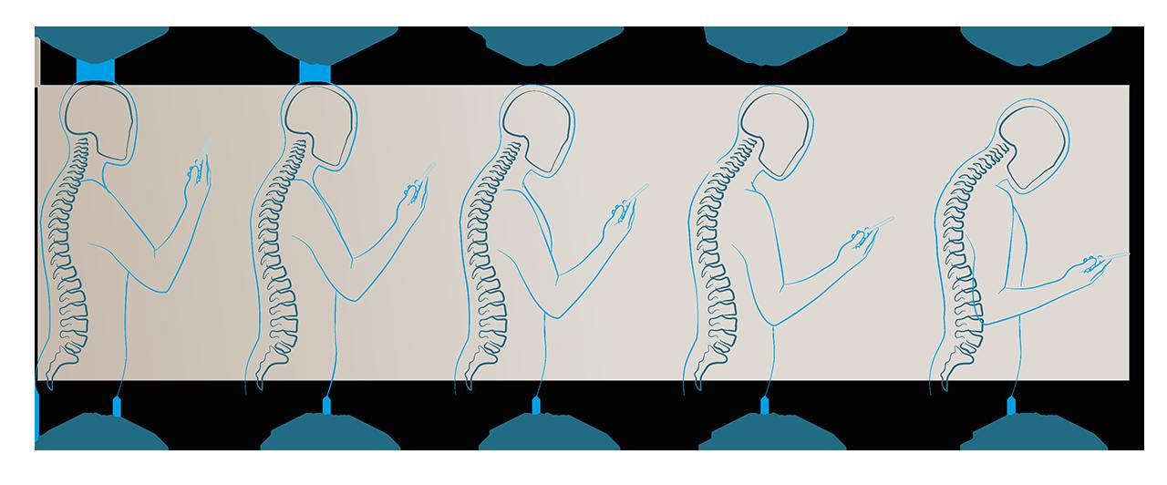 obciazenie kregoslupa szyjnego podczas korzystania z urzadzen mobilnych